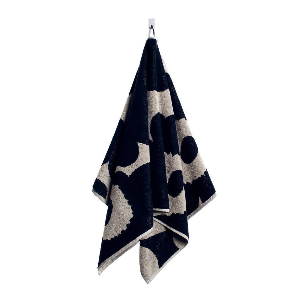 Unikko Hand Towel Black Sand Marimekko Royaldesign Co Uk