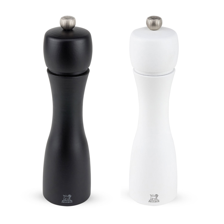 Tahiti Salt Pepper Mill 20 Cm Black White Peugeot Royaldesign Co Uk