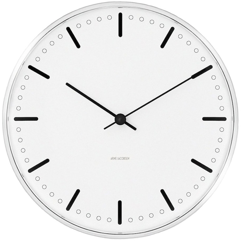 City Hall Wall Clock - Arne Jacobsen @ RoyalDesign.co.uk