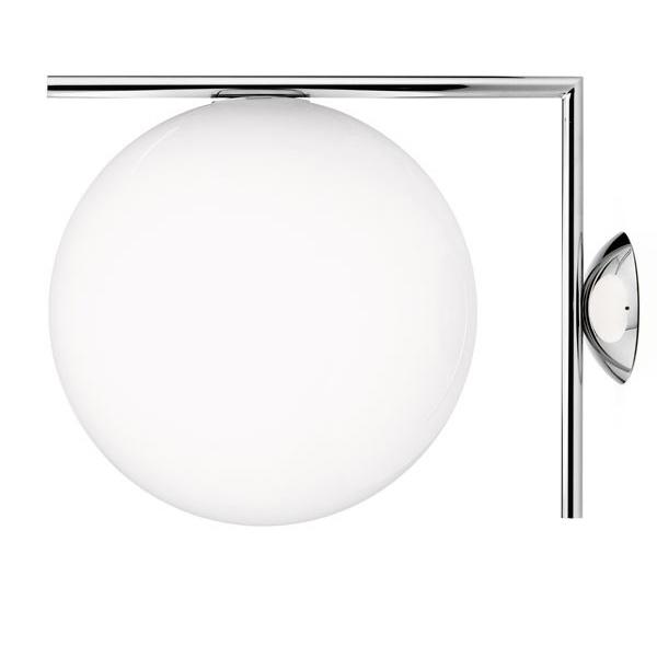 IC Lights C W2 Ceiling Wall Lamp, Chrome Michael Anastassiades Flos RoyalDesign co uk
