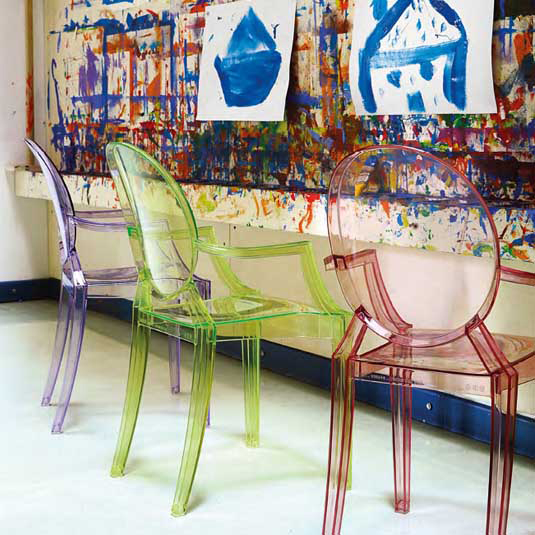 lou lou ghost chair baby pink philippe starck kartell