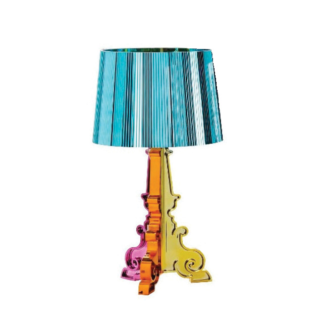 Bourgie lamp light blue ferruccio laviani kartell for Ferruccio laviani bourgie lamp