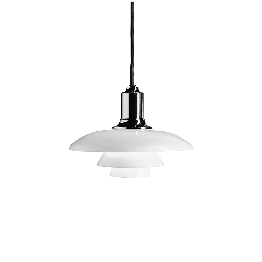 ph 2 1 pendant light white opal glass poul henningsen louis poulsen. Black Bedroom Furniture Sets. Home Design Ideas