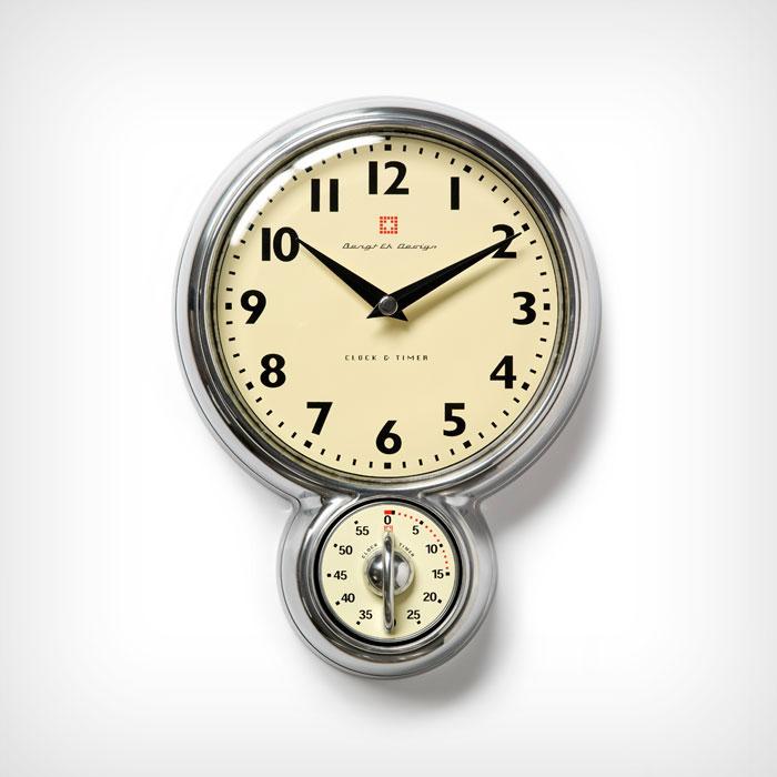 retro wall clock with timer aluminum bengt ek bengt ek design. Black Bedroom Furniture Sets. Home Design Ideas