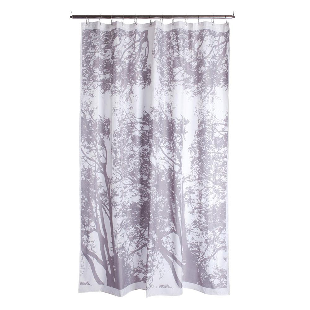 Tuuli Shower Curtain White Light Grey Maija Isola Kristina Isola Marimekko Royaldesign