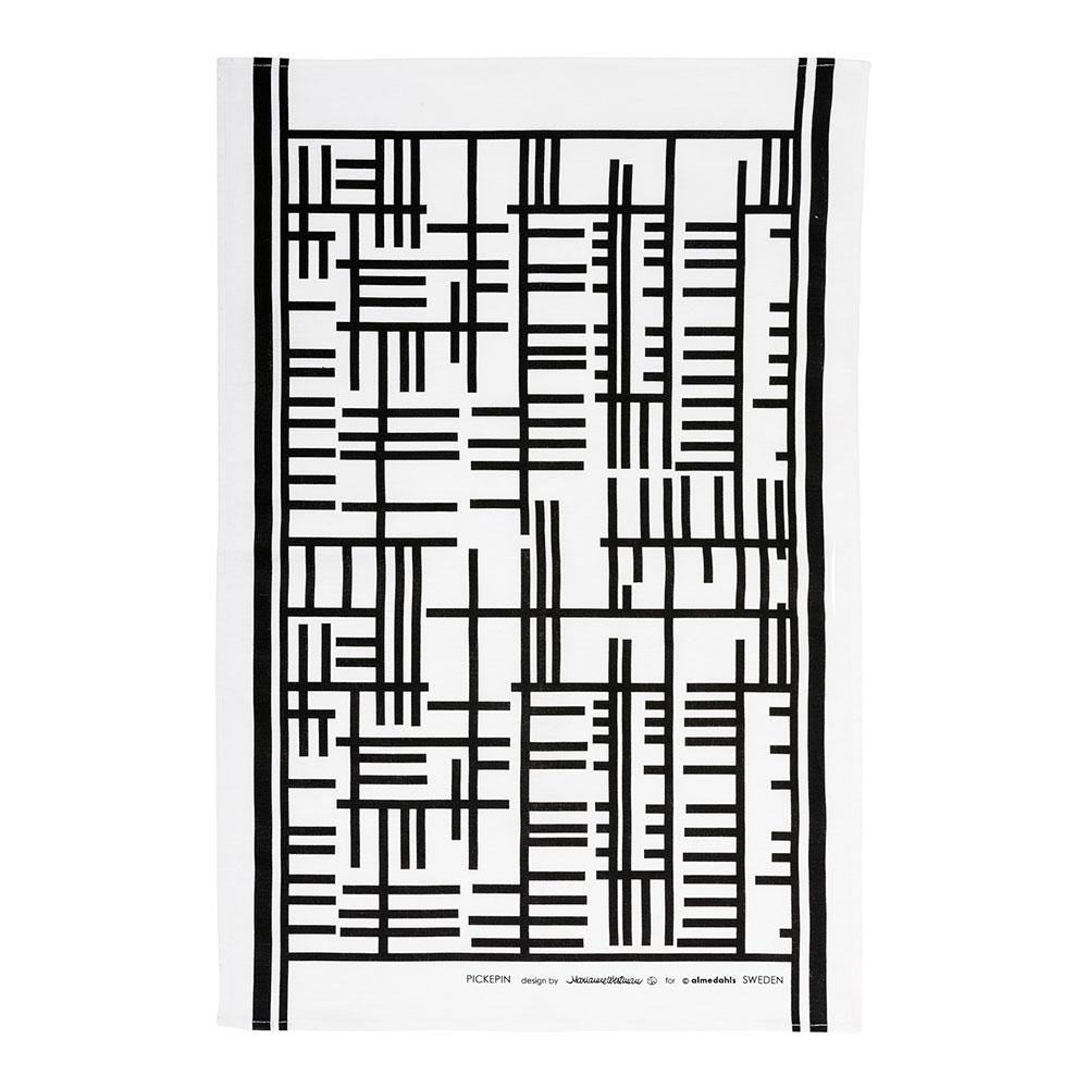 Pickepin Kitchen Towel, Black/White - Marianne Westman - Almedahls ...