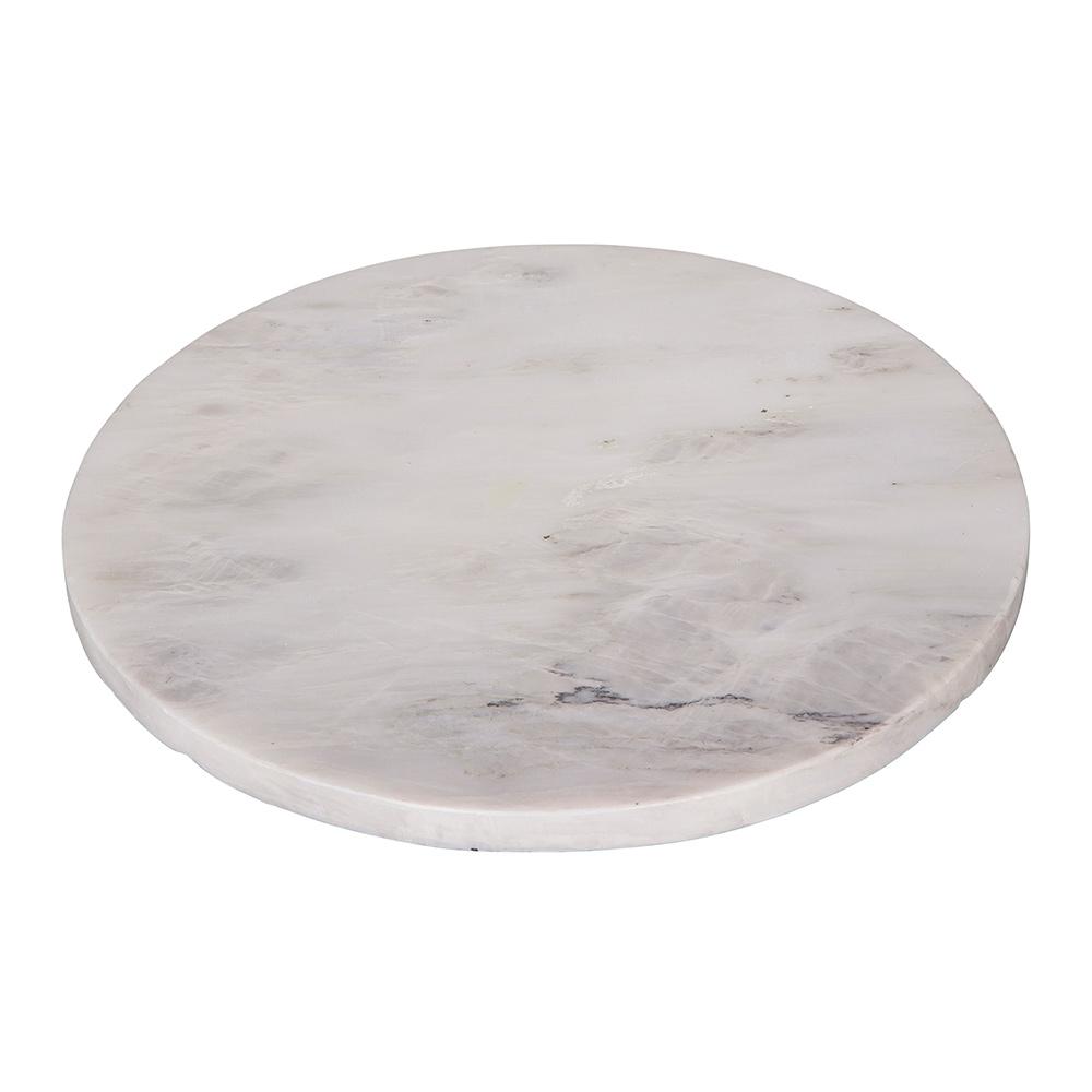 Marble Plate Round White Broste Copenhagen Broste