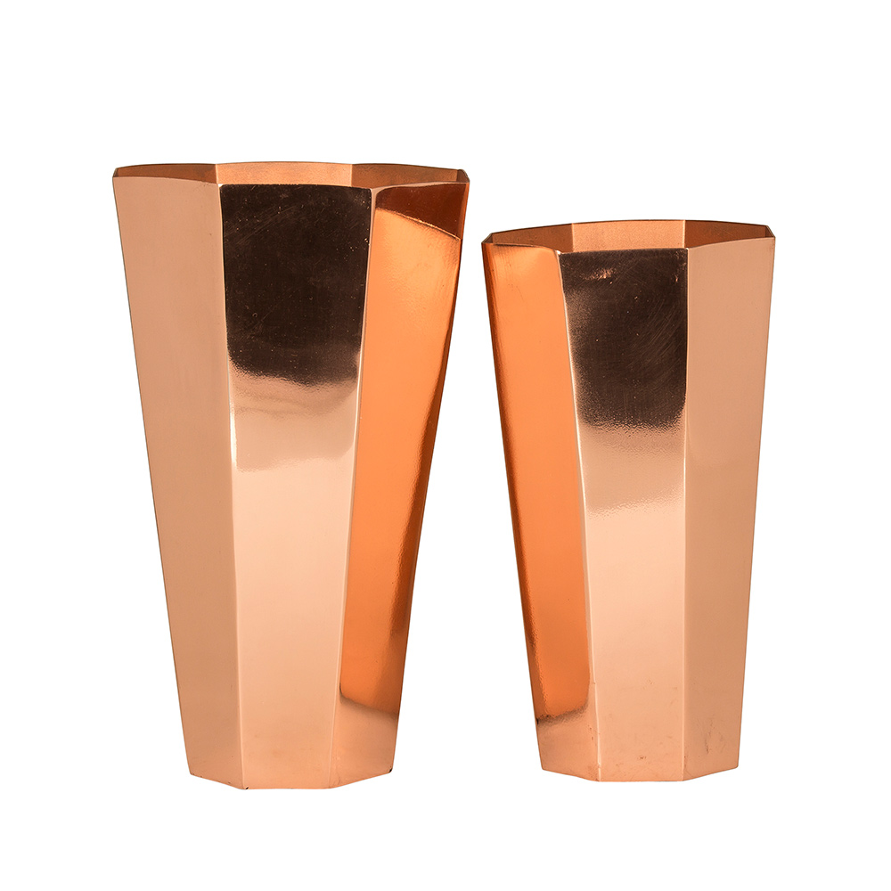felix vase 2 pcs copper broste copenhagen broste. Black Bedroom Furniture Sets. Home Design Ideas