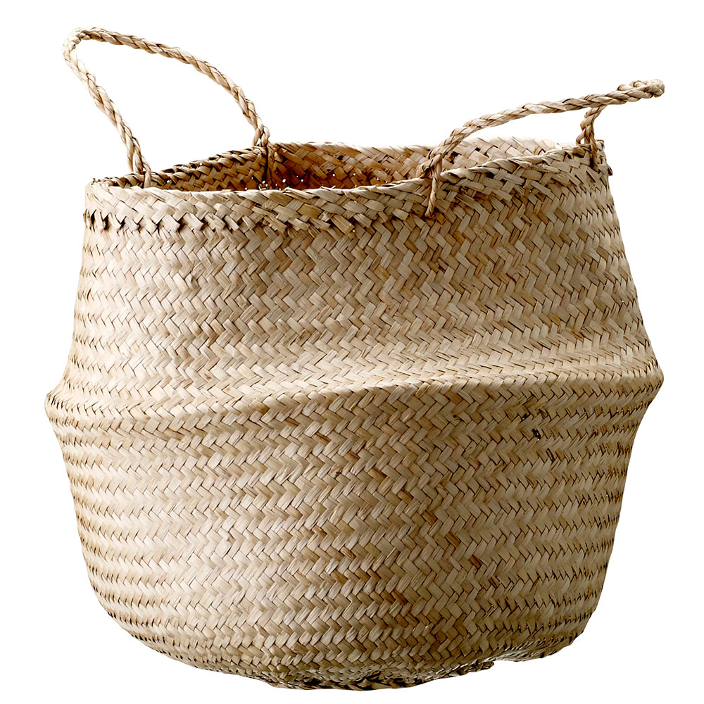 Seagrass basket 35cm bloomingville bloomingville - Panier de rangement ikea ...